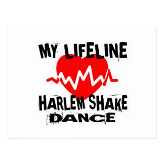 MY LIFE LINA HARLEM SHAKE DANCE DESIGNS POSTCARD