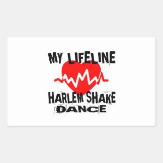 MY LIFE LINA HARLEM SHAKE DANCE DESIGNS RECTANGULAR STICKER