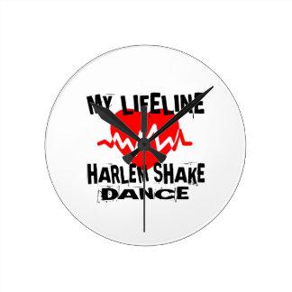 MY LIFE LINA HARLEM SHAKE DANCE DESIGNS ROUND CLOCK