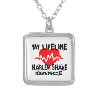 MY LIFE LINA HARLEM SHAKE DANCE DESIGNS SILVER PLATED NECKLACE