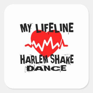 MY LIFE LINA HARLEM SHAKE DANCE DESIGNS SQUARE STICKER