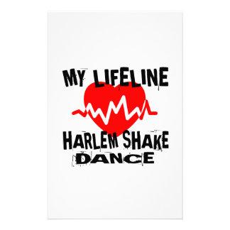 MY LIFE LINA HARLEM SHAKE DANCE DESIGNS STATIONERY