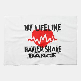 MY LIFE LINA HARLEM SHAKE DANCE DESIGNS TEA TOWEL