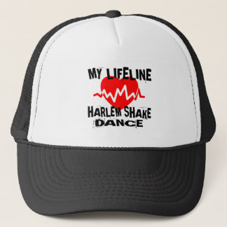 MY LIFE LINA HARLEM SHAKE DANCE DESIGNS TRUCKER HAT