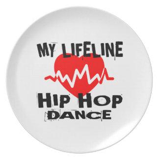MY LIFE LINA HIP HOP DANCE DESIGNS PLATE