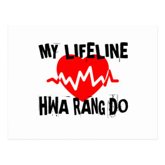 MY LIFE LINA HWA RANG DO MARTIAL ARTS DESIGNS POSTCARD