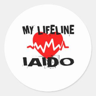 MY LIFE LINA IAIDO MARTIAL ARTS DESIGNS CLASSIC ROUND STICKER