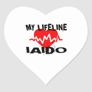 MY LIFE LINA IAIDO MARTIAL ARTS DESIGNS HEART STICKER