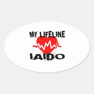 MY LIFE LINA IAIDO MARTIAL ARTS DESIGNS OVAL STICKER