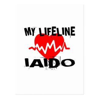 MY LIFE LINA IAIDO MARTIAL ARTS DESIGNS POSTCARD