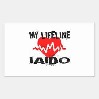 MY LIFE LINA IAIDO MARTIAL ARTS DESIGNS RECTANGULAR STICKER