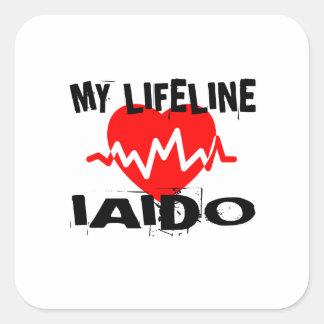 MY LIFE LINA IAIDO MARTIAL ARTS DESIGNS SQUARE STICKER