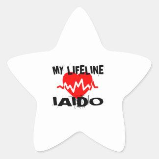 MY LIFE LINA IAIDO MARTIAL ARTS DESIGNS STAR STICKER