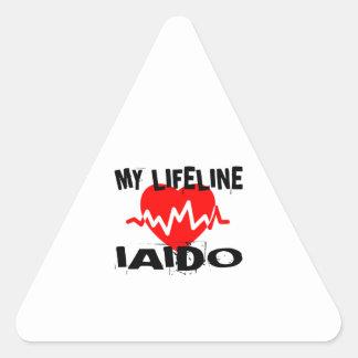 MY LIFE LINA IAIDO MARTIAL ARTS DESIGNS TRIANGLE STICKER