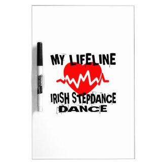 MY LIFE LINA IRISH STEP DANCE DESIGNS DRY ERASE BOARD