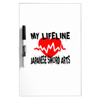 MY LIFE LINA JAPANESE SWORD ARTS MARTIAL ARTS DESI DRY ERASE BOARD