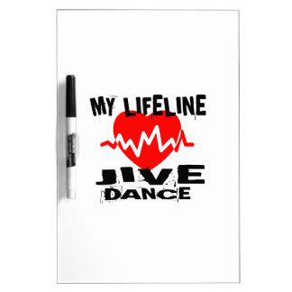 MY LIFE LINA JIVE DANCE DESIGNS DRY ERASE BOARD
