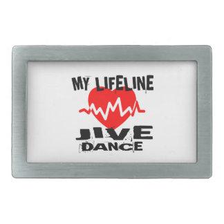 MY LIFE LINA JIVE DANCE DESIGNS RECTANGULAR BELT BUCKLE