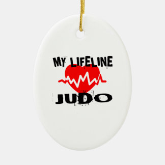 MY LIFE LINA JUDO MARTIAL ARTS DESIGNS CERAMIC ORNAMENT