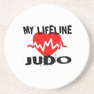 MY LIFE LINA JUDO MARTIAL ARTS DESIGNS COASTER