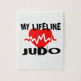 MY LIFE LINA JUDO MARTIAL ARTS DESIGNS JIGSAW PUZZLE