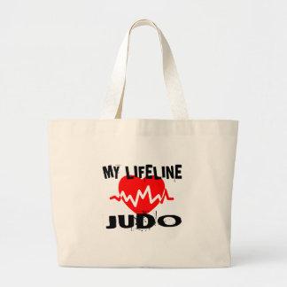 MY LIFE LINA JUDO MARTIAL ARTS DESIGNS LARGE TOTE BAG