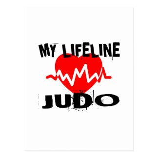 MY LIFE LINA JUDO MARTIAL ARTS DESIGNS POSTCARD