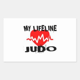 MY LIFE LINA JUDO MARTIAL ARTS DESIGNS RECTANGULAR STICKER