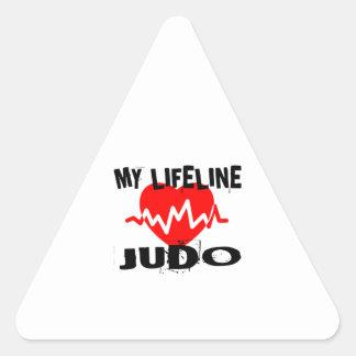 MY LIFE LINA JUDO MARTIAL ARTS DESIGNS TRIANGLE STICKER