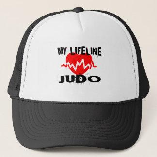 MY LIFE LINA JUDO MARTIAL ARTS DESIGNS TRUCKER HAT