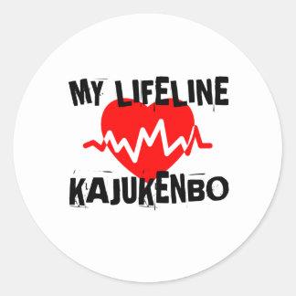 MY LIFE LINA KAJUKENBO MARTIAL ARTS DESIGNS CLASSIC ROUND STICKER