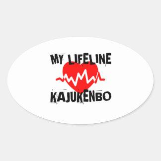 MY LIFE LINA KAJUKENBO MARTIAL ARTS DESIGNS OVAL STICKER