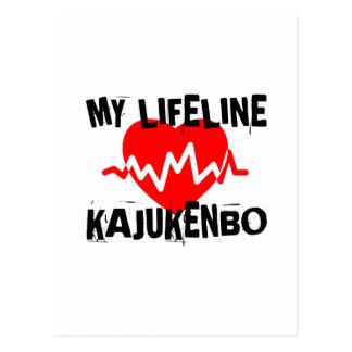 MY LIFE LINA KAJUKENBO MARTIAL ARTS DESIGNS POSTCARD