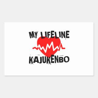 MY LIFE LINA KAJUKENBO MARTIAL ARTS DESIGNS RECTANGULAR STICKER