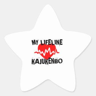 MY LIFE LINA KAJUKENBO MARTIAL ARTS DESIGNS STAR STICKER