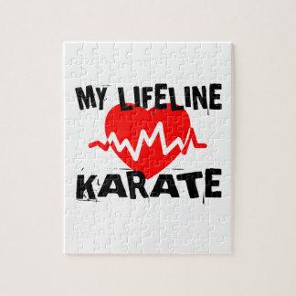 MY LIFE LINA KARATE MARTIAL ARTS DESIGNS JIGSAW PUZZLE