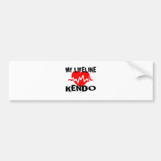 MY LIFE LINA KENDO MARTIAL ARTS DESIGNS BUMPER STICKER