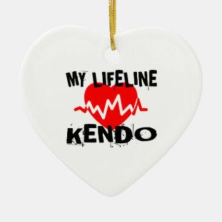 MY LIFE LINA KENDO MARTIAL ARTS DESIGNS CERAMIC ORNAMENT