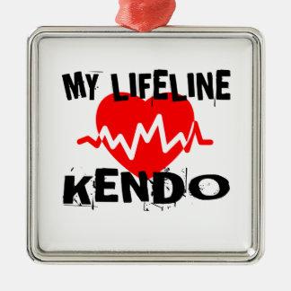 MY LIFE LINA KENDO MARTIAL ARTS DESIGNS METAL ORNAMENT