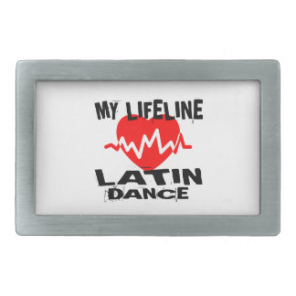 MY LIFE LINA LATIN DANCE DESIGNS RECTANGULAR BELT BUCKLE