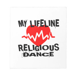 MY LIFE LINA RELIGIOUS DANCE DESIGNS NOTEPAD