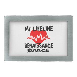 MY LIFE LINA RENAISSANCE DANCE DESIGNS RECTANGULAR BELT BUCKLE