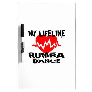 MY LIFE LINA RUMBA DANCE DESIGNS DRY ERASE BOARD