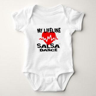 MY LIFE LINA SALSA DANCE DESIGNS BABY BODYSUIT