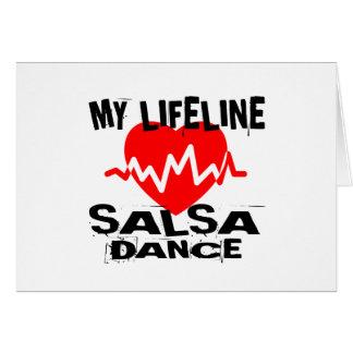 MY LIFE LINA SALSA DANCE DESIGNS CARD