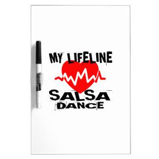 MY LIFE LINA SALSA DANCE DESIGNS DRY ERASE BOARD