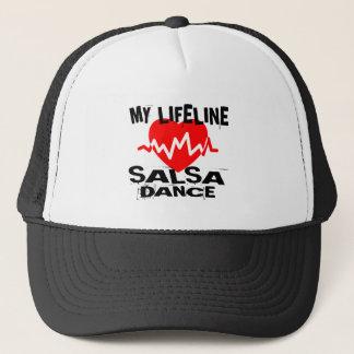 MY LIFE LINA SALSA DANCE DESIGNS TRUCKER HAT