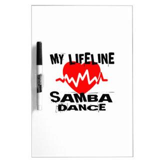 MY LIFE LINA SAMBA DANCE DESIGNS DRY ERASE BOARD