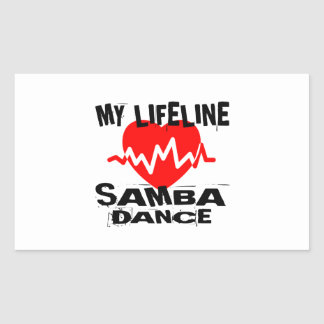 MY LIFE LINA SAMBA DANCE DESIGNS RECTANGULAR STICKER