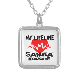 MY LIFE LINA SAMBA DANCE DESIGNS SILVER PLATED NECKLACE